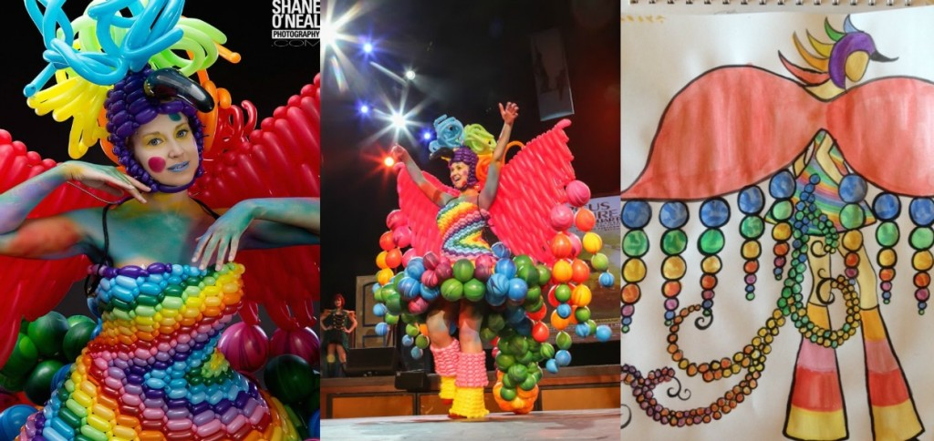 circus couture balloon dresses