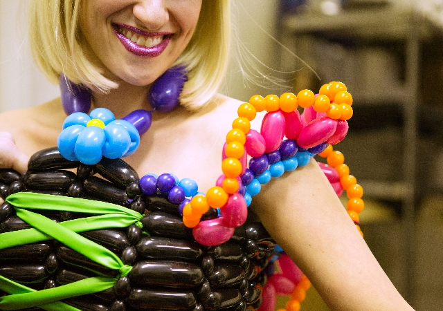 colorful balloon dresses