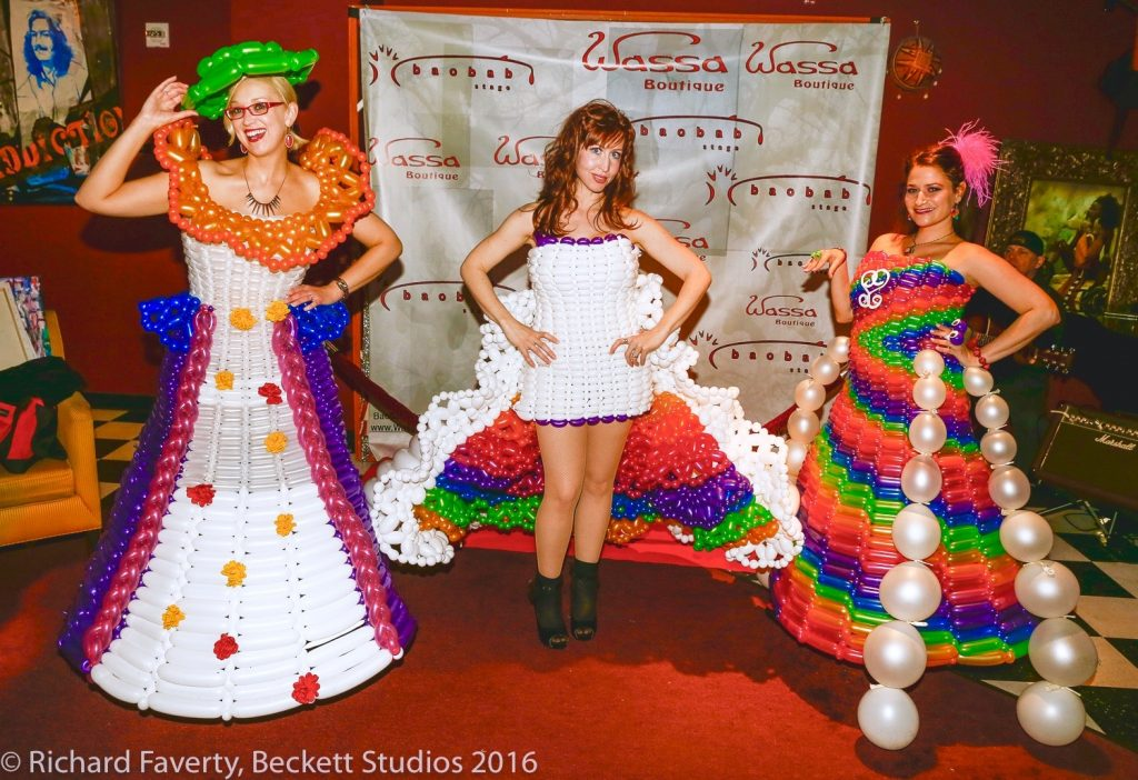 rainbow balloon dresses
