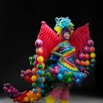 rainbow balloon costume