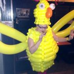 chicken balloon costume