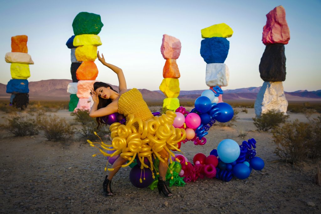 Balloon Dress at Seven Magic Mountains