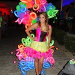 neon balloon dress