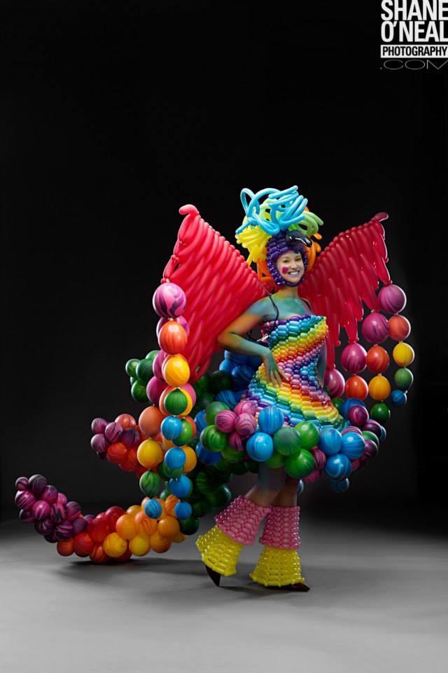 rainbow balloon dress