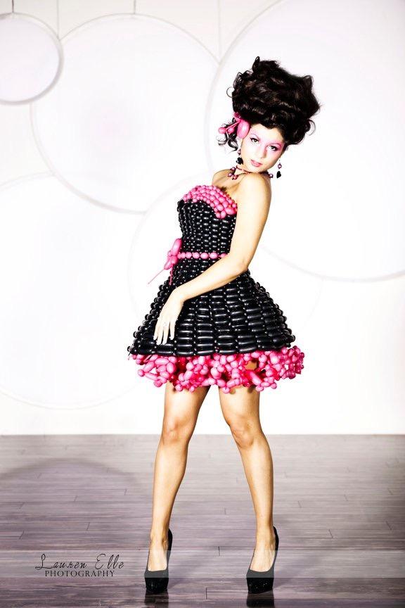 Black Pink Bridesmaid Dress
