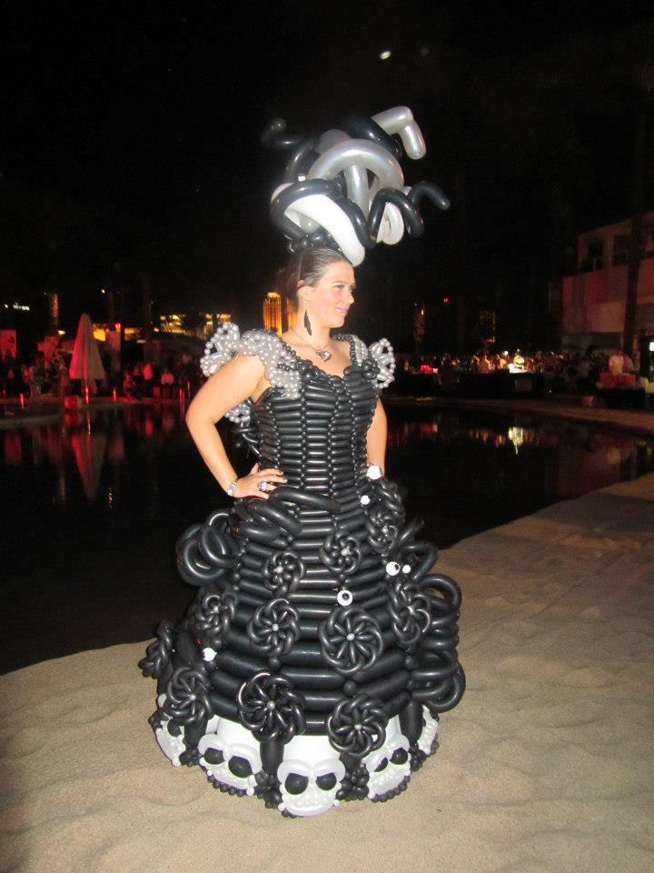 gothic balloon dress