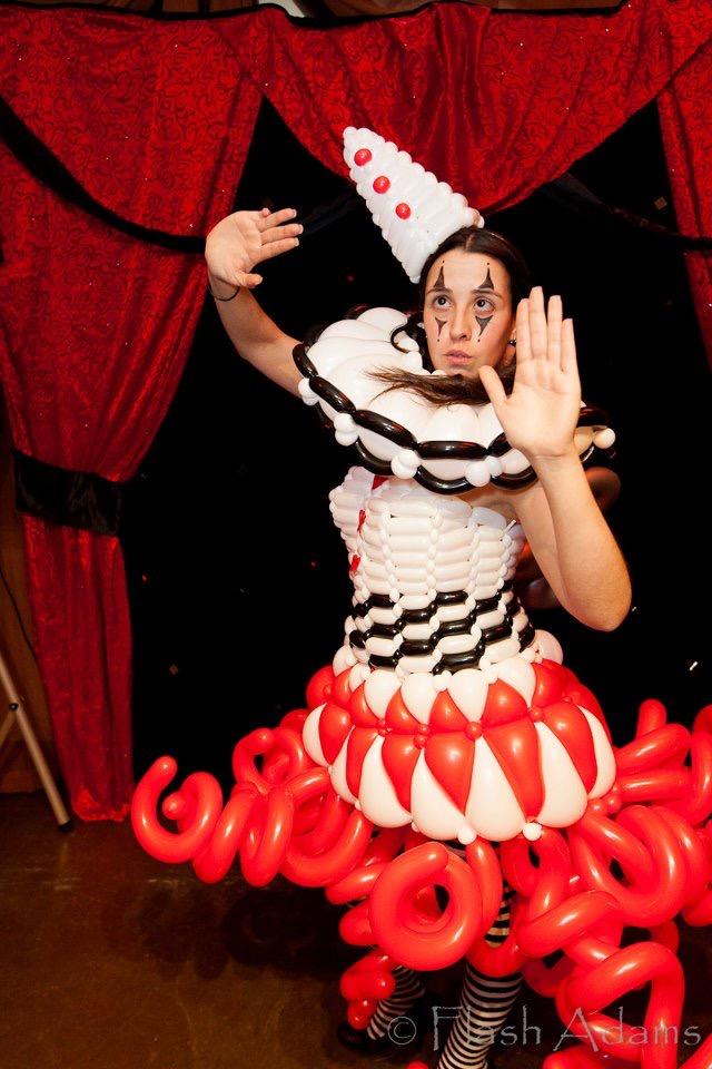 pierrot balloon dress