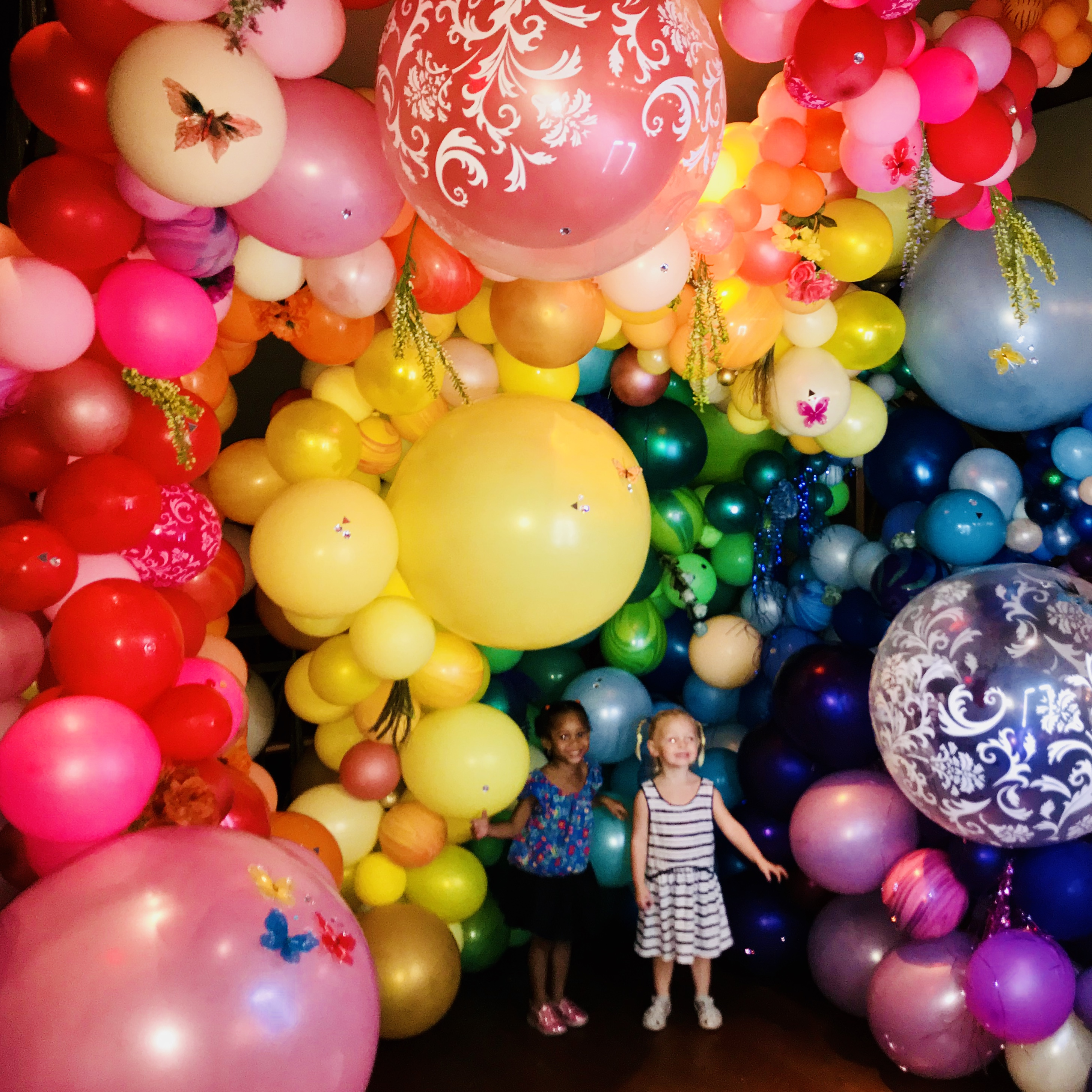 Balloon Rainbow for Circus Couture