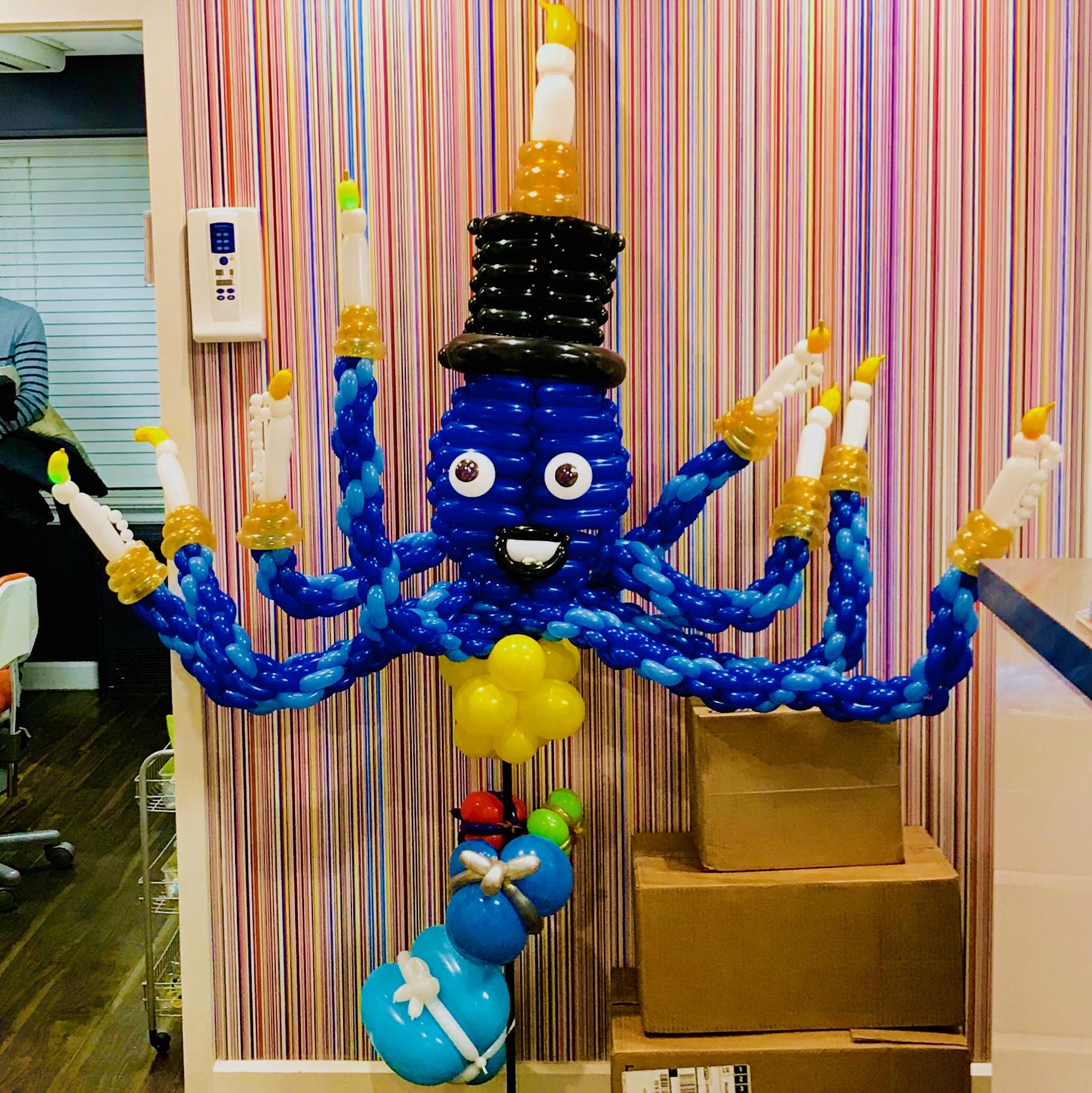 Balloon Octopus Menorah