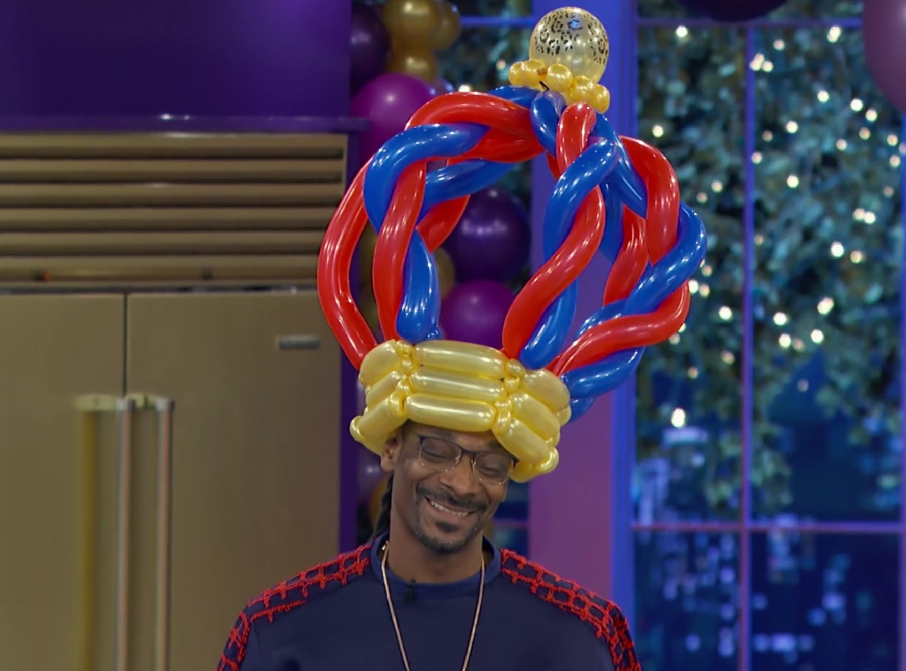 Balloon Hats on Martha and Snoops Potluck Dinner Party